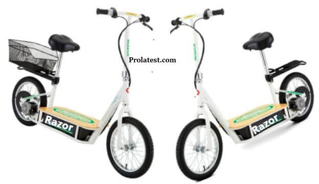Razor electric scooters with seats